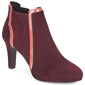 鞋子 女士 短靴 André ERIKA 波尔多红