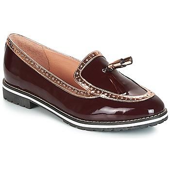鞋子 女士 皮便鞋 André DEBBY 波尔多红