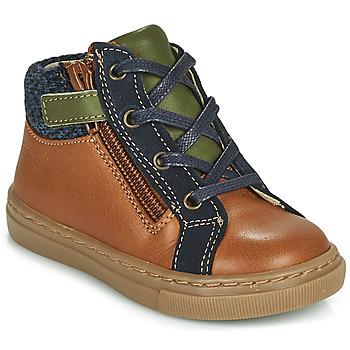 鞋子 男孩 短筒靴 André CORBEAU 棕色