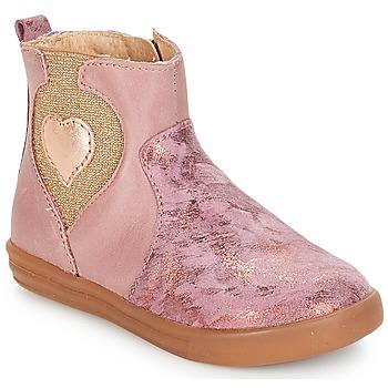 鞋子 女孩 短筒靴 André MAUVE 玫瑰色