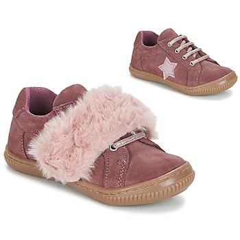 鞋子 女孩 德比 André RUBAN 玫瑰色