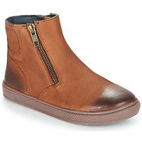 鞋子 男孩 短筒靴 André CUMIN 棕色