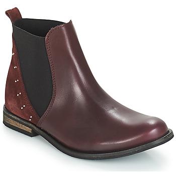鞋子 女孩 短筒靴 André MUSCADE 波尔多红