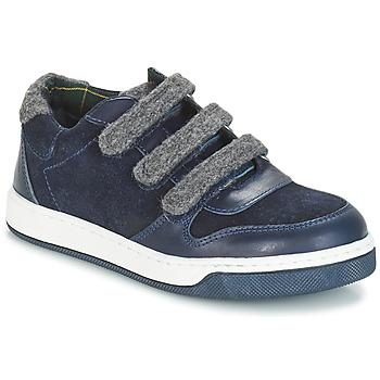 鞋子 男孩 德比 André CARREAU 海蓝色