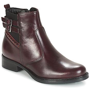 鞋子 女士 短靴 André CARLIN 波尔多红
