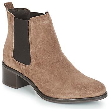 鞋子 女士 短筒靴 André CRUMBLE 米色