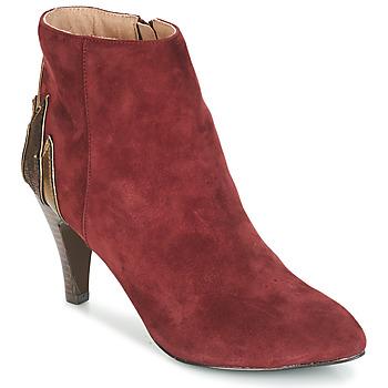 鞋子 女士 短筒靴 André FICUS 波尔多红