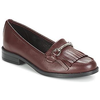 鞋子 女士 皮便鞋 André TYRI 波尔多红