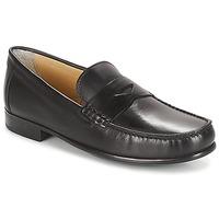 鞋子 男士 皮便鞋 André BUREAU 黑色