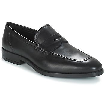 鞋子 男士 皮便鞋 André MOC 黑色