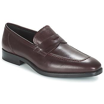 鞋子 男士 皮便鞋 André MOC 波爾多紅