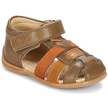 鞋子 男孩 凉鞋 André LES PRALINES 棕色