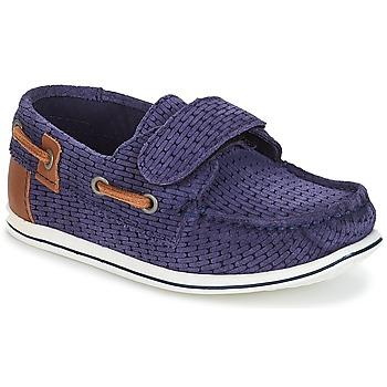 鞋子 男孩 皮便鞋 André LES CAILLOUX 海藍色