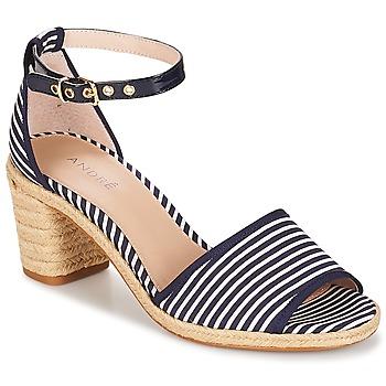 鞋子 女士 凉鞋 André JAKARTA Rayé / 蓝色