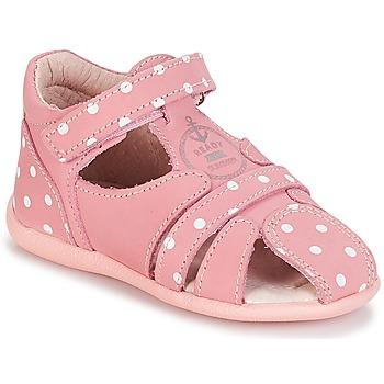 鞋子 女孩 涼鞋 André MARINA 玫瑰色