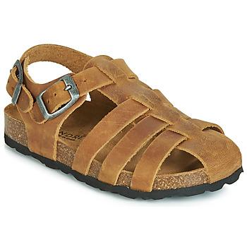 鞋子 男孩 涼鞋 André TOTEM 駝色