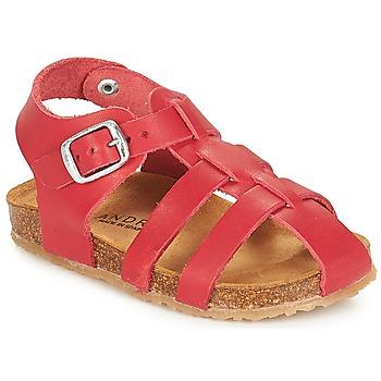 鞋子 兒童 涼鞋 André AVIRON 紅色