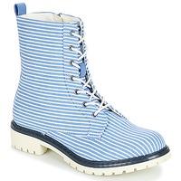 鞋子 女士 短筒靴 André PRUNE Rayé / 蓝色