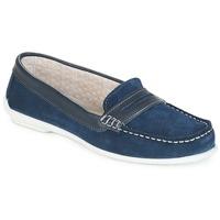 鞋子 女士 皮便鞋 André FRIOULA 海蓝色