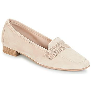 鞋子 女士 皮便鞋 André NAMOURS 米色