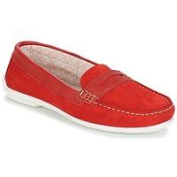 鞋子 女士 皮便鞋 André FRIOULA 红色