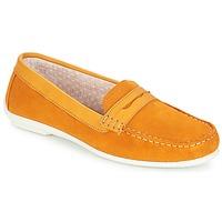 鞋子 女士 皮便鞋 André FRIOULA 黄色