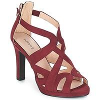 鞋子 女士 凉鞋 André CHARLESTON 波尔多红