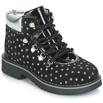 鞋子 女孩 短筒靴 Citrouille et Compagnie JORDA 黑色 / 银色