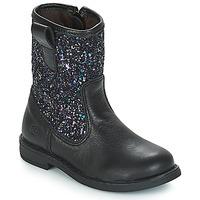 鞋子 女孩 短筒靴 Citrouille et Compagnie JUCKER 黑色 / 浅黄色