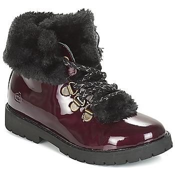鞋子 女孩 短筒靴 Citrouille et Compagnie JUTTER 波尔多红 / 漆皮
