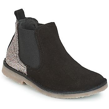 鞋子 女孩 短筒靴 Citrouille et Compagnie FIGOULI 黑色 / 金色