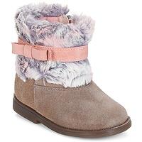 鞋子 女孩 短筒靴 Citrouille et Compagnie JERRADJE 灰色 / 玫瑰色