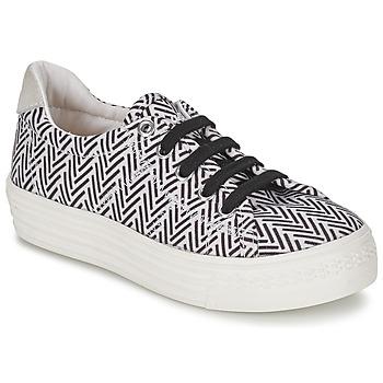 鞋子 女孩 球鞋基本款 Shwik by Pom d'Api STEP LO CUT 黑色 / 白色