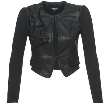 衣服 女士 皮夹克/ 人造皮革夹克 Morgan VUIR 黑色