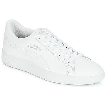 鞋子 男士 球鞋基本款 Puma 彪馬 PUMA SMASH V2 L 白色