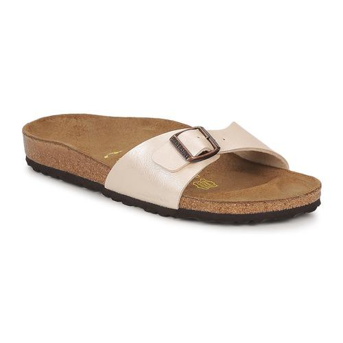 鞋子 女士 休闲凉拖/沙滩鞋 Birkenstock 勃肯 MADRID 奶油色