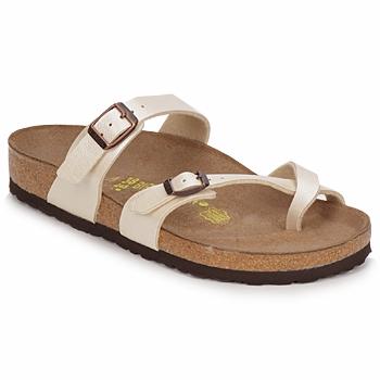 鞋子 女士 休闲凉拖/沙滩鞋 Birkenstock 勃肯 MAYARI 奶油色