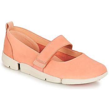 鞋子 女士 平底鞋 Clarks 其乐 Tri Carrie 粉色 / 裸色