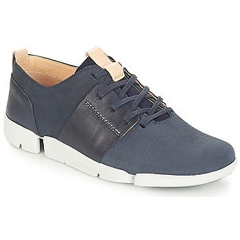 鞋子 女士 球鞋基本款 Clarks 其乐 Tri Caitlin 海军蓝 / Combi