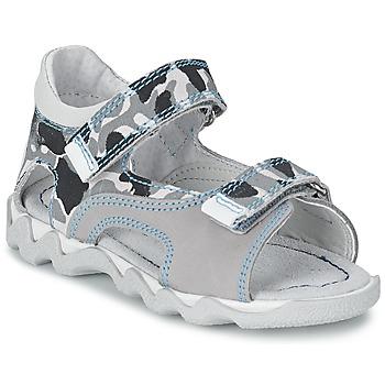 鞋子 男孩 凉鞋 Citrouille et Compagnie MISQUINE 白色 / Militaire