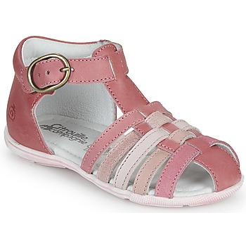 鞋子 女孩 凉鞋 Citrouille et Compagnie VISOTU 玫瑰色 / 多彩