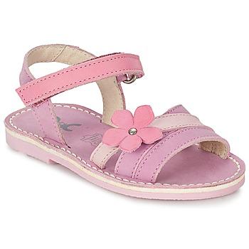 鞋子 女孩 凉鞋 Citrouille et Compagnie VIZIEL 紫罗兰 / 玫瑰色