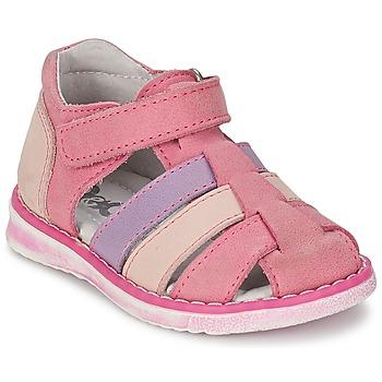 鞋子 女孩 凉鞋 Citrouille et Compagnie CHIZETTE 淡紫色 / 玫瑰色 / 紫红色