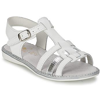 鞋子 女孩 凉鞋 Citrouille et Compagnie ROLUI 白色