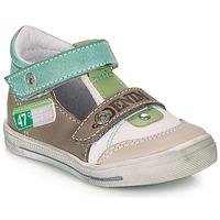 鞋子 男孩 凉鞋 GBB PEPINO 白色 / 绿色 / 灰褐色