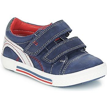 鞋子 男孩 球鞋基本款 Catimini PERRUCHE 海蓝色-红色 / Strike