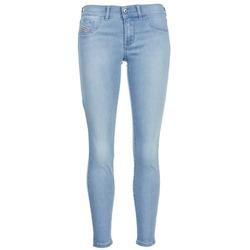 衣服 女士 紧身牛仔裤 Diesel 迪赛尔 LIVIER ANKLE 蓝色 / 米色
