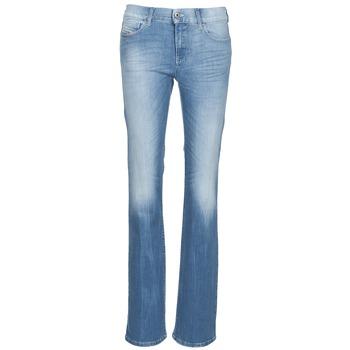 衣服 女士 喇叭牛仔裤 Diesel 迪赛尔 BOOTZE 蓝色