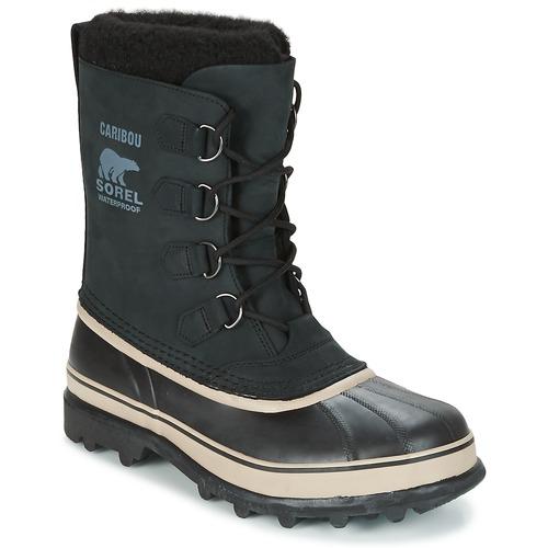鞋子 男士 雪地靴 Sorel CARIBOU 黑色