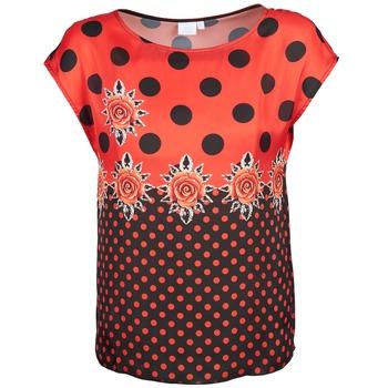 衣服 女士 短袖体恤 Alba Moda BETTINA 红色 / 黑色